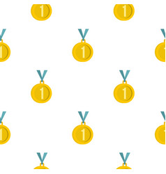 medal for first place pattern flat vector image