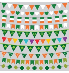 St Patricks Day decoration set vector image vector image