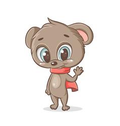 teddy bear with a scarf vector image vector image