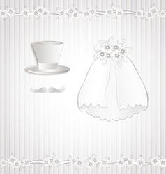 Wedding vintage vector image