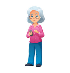 an old active lady with vector image