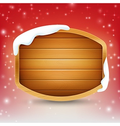 Blank wooden sign with snow and star light eps 10 vector image vector image