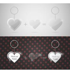glass heart keychain vector image vector image