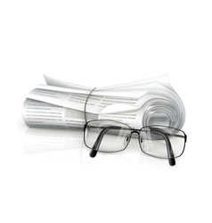 Newspaper and glasses vector image vector image