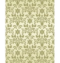 seamless vintage wallpaper pattern vector image vector image