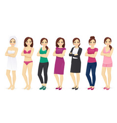 woman day set vector image