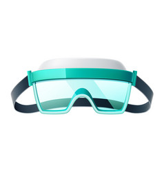 3d eye protection glasses safety goggles vector image