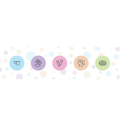 5 spa icons vector