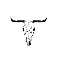 abstract grunge texas cow skull design template vector image