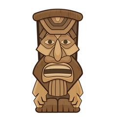 African idol icon cartoon style vector