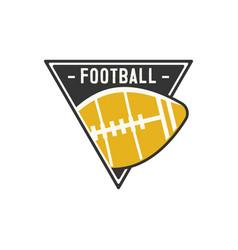 American football logo emblem usa sports badge in vector