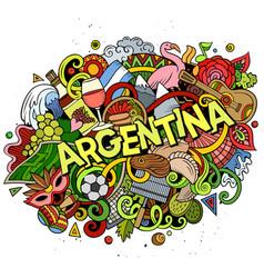 Argentina hand drawn cartoon doodles vector