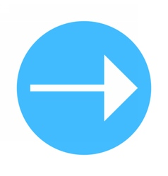 Arrow sign direction icon circle button flat style vector image