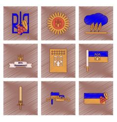 Assembly flat shading style icon ukraines vector