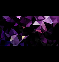 Banner with dark low poly design vector