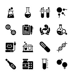 Batest tubes solid icons pack vector