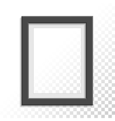 Black realistic photo frame vector