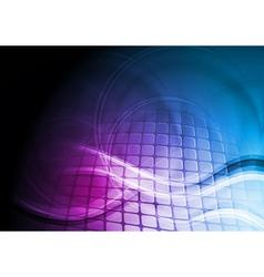 Blue and violet technology design vector image