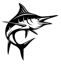 Blue marlin fish - fishing logo template club vector