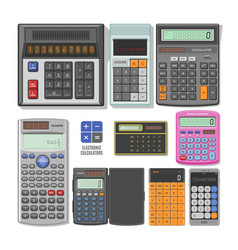 calculator business accounting calculation vector image