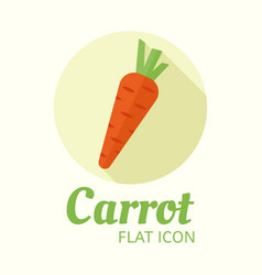 carrot isolated flat style round icon vector image