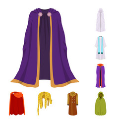 Cloak and clothes icon vector