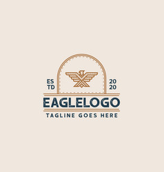 Creative professional eagle logo design eagle vector