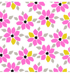 cutout paper pink bold flower seamless vector image
