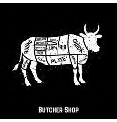 Cuts of beef diagram vector