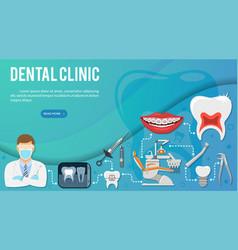 Dental clinic infographics vector