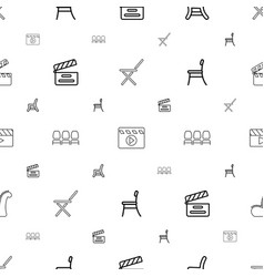 Director icons pattern seamless white background vector
