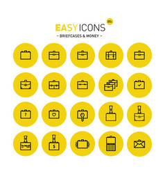 Easy icons 05c briefcases vector