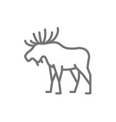 elk deer line icon vector image