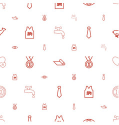 emblem icons pattern seamless white background vector image