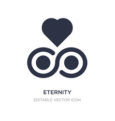 Eternity icon on white background simple element vector