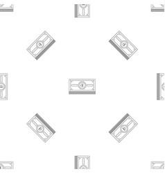 euro cash pattern seamless vector image