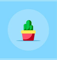 flat style cactus icon vector image