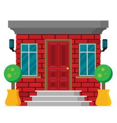 front door house exterior flat vector image