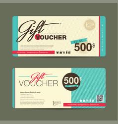 Gift voucher 123 vector
