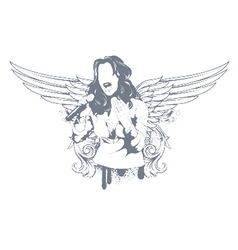 Girl with wings vector