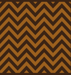 gold and brown chevron retro decorative pattern vector image