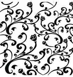 Gothic style vintage floral pattern vector image