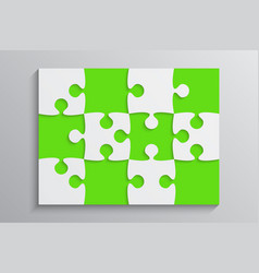 Green piece puzzle banner 12 step background vector