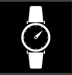 Hand watch the white color icon vector