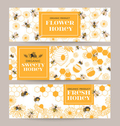 honey banners business promote flyer with various vector image