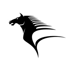 Horse with flying mane vector