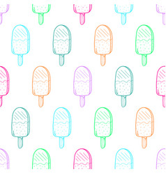 Ice cream color pattern linear37 vector