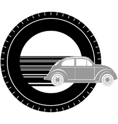 Icon with a car-1 vector