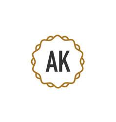 Initial letter ak elegance creative logo vector