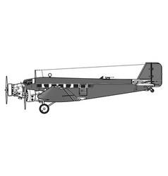 junkers ju-52 tante ju iron annie vector image